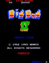 Dig Dug II: Trouble in Paradise Arcade Title screen