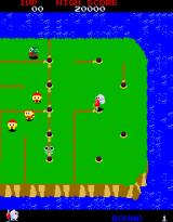 Dig Dug II: Trouble in Paradise Arcade Drilling