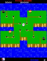Dig Dug II: Trouble in Paradise Arcade Level 2