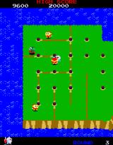 Dig Dug II: Trouble in Paradise Arcade Level 3