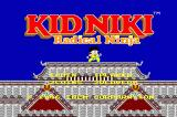 Kid Niki: Radical Ninja Arcade Title screen