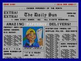 Paperboy Arcade Title Screen.