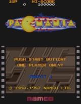 Pac-Mania Arcade Title Screen.