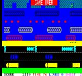 Hopper Oric Game over