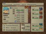 Breath of Fire IV Windows Each character has stats... your main character also shows what dragons he can turn into