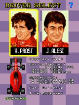 F-1 Grand Prix Arcade Driver selection