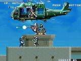 GunForce Arcade Enemy fortress