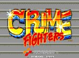Crime Fighters Arcade Title screen