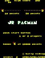 Jr. Pac-Man Arcade Title Screen.