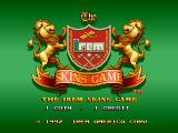 The Irem Skins Game Arcade Title screen
