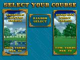 The Irem Skins Game Arcade Course selection