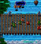 Heavy Barrel Arcade Fighting on a bridge.