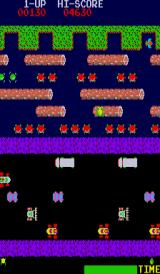 Frogger Arcade Crossing the river.