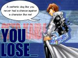 Yu-Gi-Oh! Power of Chaos: Kaiba the Revenge Windows One of the losing screens shows Kaiba's contempt for you