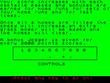 Jogger ZX Spectrum Instructions