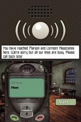 Syberia Nintendo DS Use your cellphone to check with your boss or call your mom.