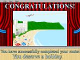Crosscountry USA (Home Edition) DOS Congratulations! Scenario is complete. You may rest on the sunny beach.