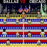 Super Dodge Ball Arcade Dallas vs. Chicago start (US version)