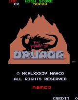 The Tower of Druaga Arcade Title screen