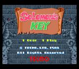 Solomon's Key Arcade Title screen