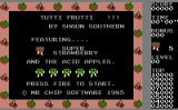 Tutti Frutti Commodore 16, Plus/4 Title Screen.