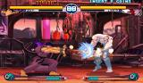 Street Fighter III: 2nd Impact - Giant Attack Arcade Ryu performing a Hadouken against Necro