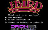 J-Bird PC Booter Select monitor type (CGA with composite mode)