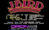 J-Bird PC Booter Select menu (CGA with composite mode)