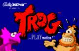 Trog Arcade Title Screen.