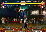 The King of Fighters '96 Arcade Kasumi in air