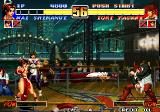 The King of Fighters '96 Arcade ...and throws fan to Iori