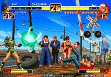 The King of Fighters '96 Arcade Terry on ground