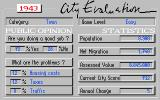SimCity CDTV Evaluation of the mayor