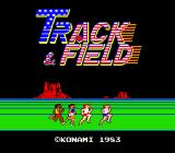 Track & Field Arcade Title Screen.