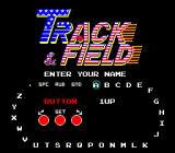 Track & Field Arcade Enter your initials.