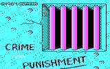 Crime and Punishment DOS Title Screen (CGA)