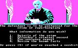 Crime and Punishment DOS Begin the Game (CGA)