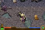 The Lord of the Rings: The Return of the King Game Boy Advance Fighting the enemy as Gandalf... using his normal Sword/Staff combo