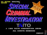 Chase H.Q. II: Special Criminal Investigation Arcade Title Screen.
