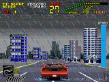 Chase H.Q. II: Special Criminal Investigation Arcade The rain is puring.