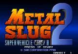 Metal Slug 2: Super Vehicle - 001/II Arcade Title screen