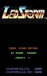 L.E.D. Storm Arcade Title screen