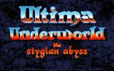 Ultima Underworld: The Stygian Abyss FM Towns Title screen