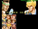 Fighter's History Arcade Player select