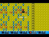 I Can't Believe It's Not... Bomberman DOS A level in battle mode and the player has just planted a bomb, best move quickly then.