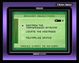 Tom Clancy's Splinter Cell Game Boy Advance Checking mission objectives.