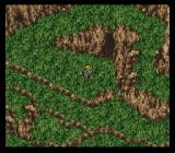 Final Fantasy III SNES Edgar is wandering through a greenish maze
