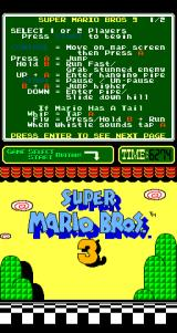 Super Mario Bros. 3 Arcade Title screen