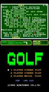 Golf Arcade Title screen