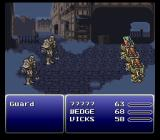 Final Fantasy III SNES Fighting in robotic suits